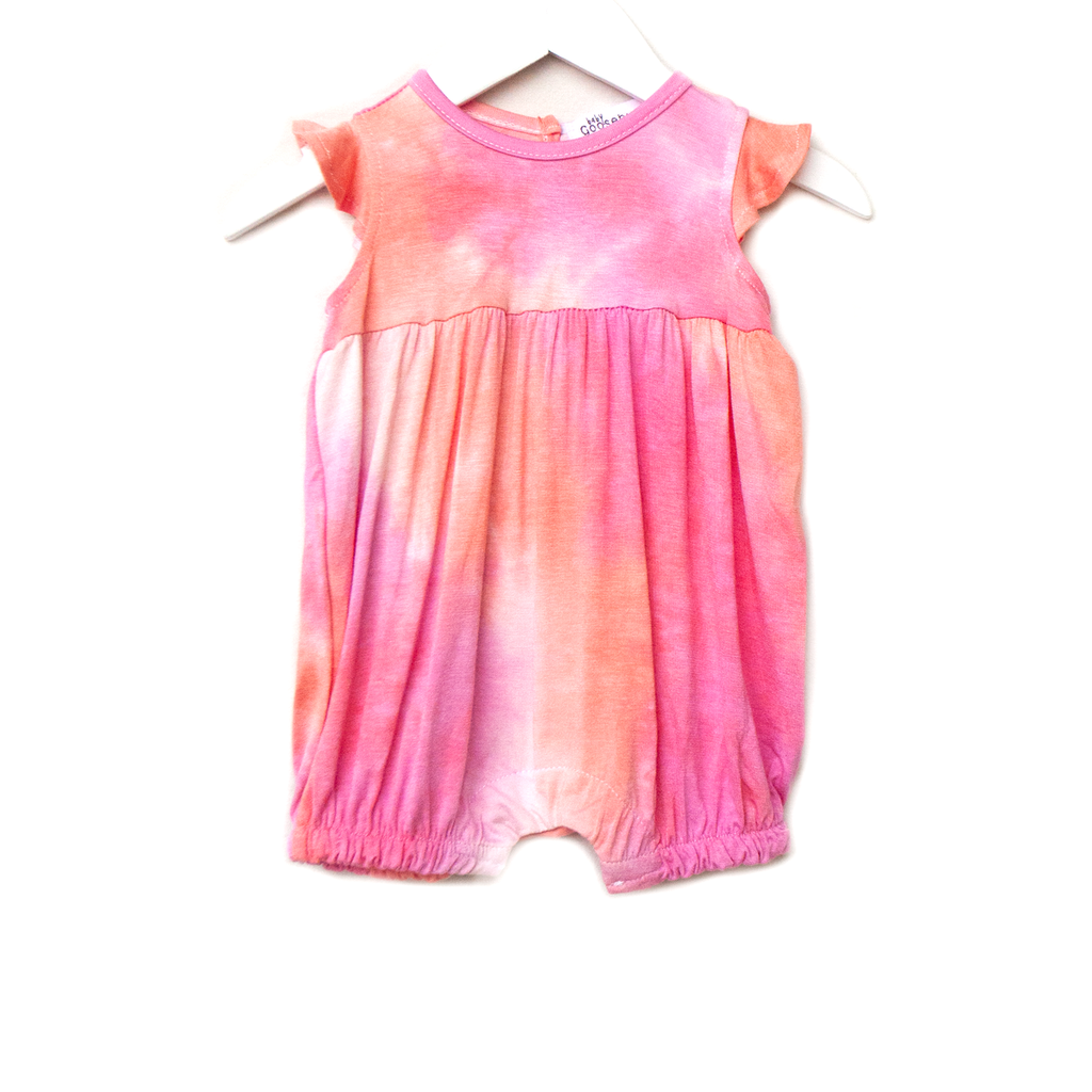 sweet as a peach / girl's romper