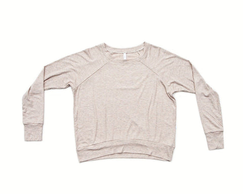 vanilla wafer / pullover shirt