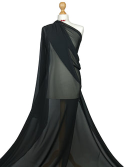Black Chiffon Sheer Fabric