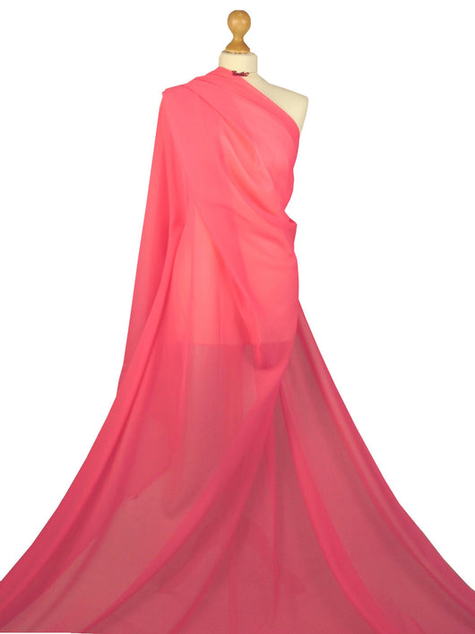 Coral Chiffon Soft Polyester Sheer Fabric CH01CL