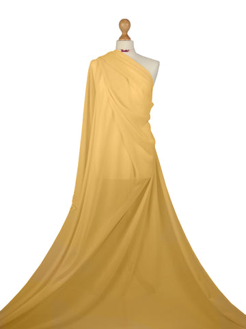 Gold Chiffon Soft Polyester Sheer Fabric CH01GD