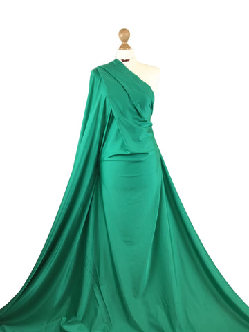 Emerald Green Shiny Lycra 4 Way Stretch Fabric LF05EG