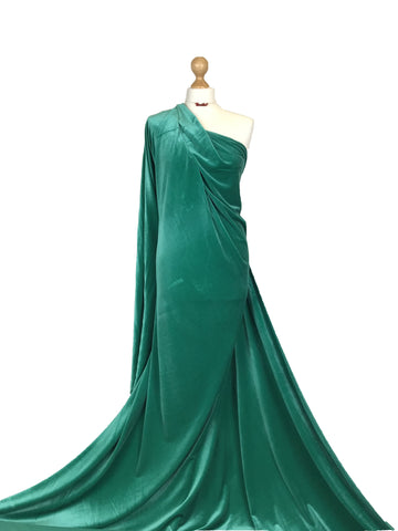 Emerald Velour 4 Way Stretch Spandex Velvet Fabric PV01EGN