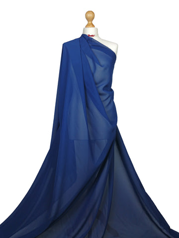 Navy Blue Chiffon Soft Polyester Sheer Fabric
