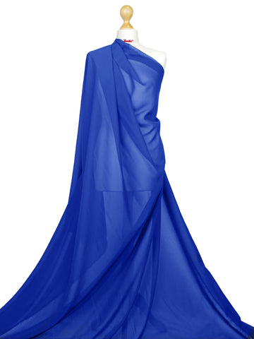 Royal Blue Chiffon Soft Polyester Sheer Fabric CH01RB