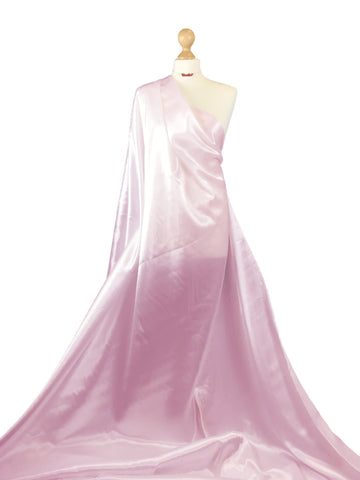 Baby Pink Budget Satin Polyester Fabric BS01BP