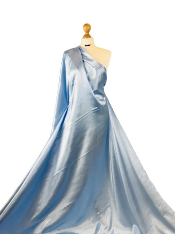 Baby Blue Budget Satin Polyester Fabric BS01BB