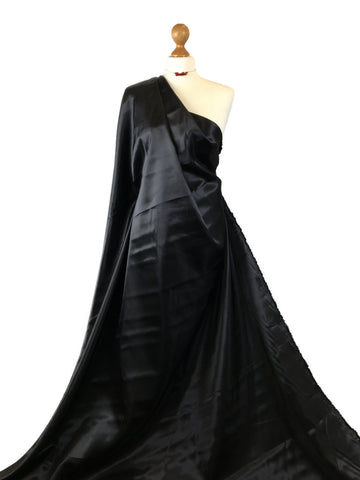 Black Budget Satin Polyester Fabric BS01BK