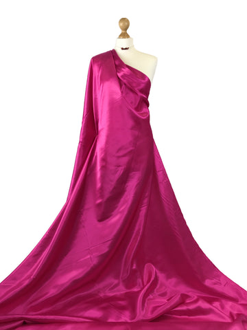 Cerise Budget Satin Polyester Fabric BS01CR