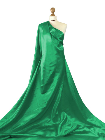 Emerald Green Budget Satin Polyester Fabric BS01EG