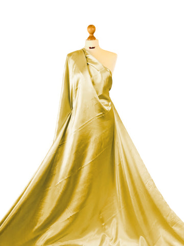 Gold Budget Satin Polyester Fabric BS01GD