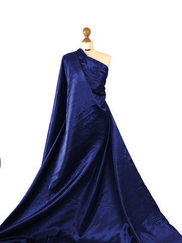 Navy Blue Budget Satin Polyester Fabric BS01NB