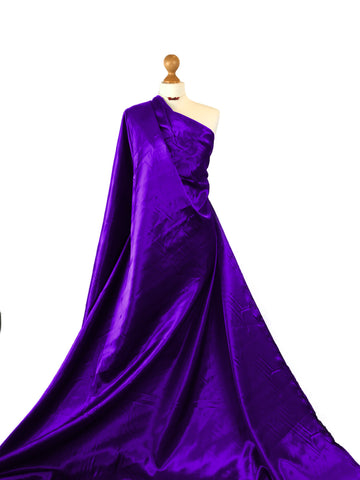 Purple Budget Satin Polyester Fabric BS01PL