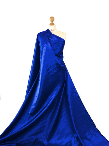 Royal Blue Budget Satin Polyester Fabric BS01RB