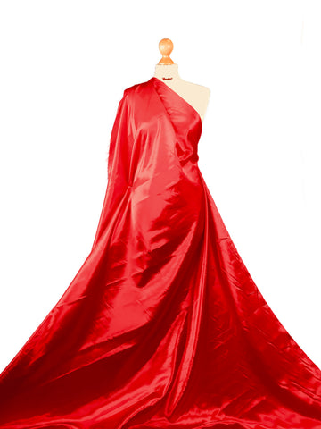 Red Budget Satin Polyester Fabric BS01RD