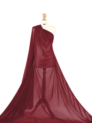 Red Wine Power Net 4 Way Stretch Sheer Fabric PN01RW