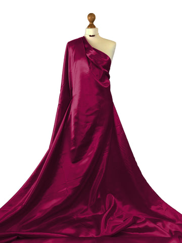 Red Wine Budget Satin Polyester Fabric BS01RW
