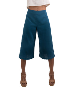 blue gaucho shorts