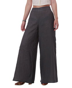 Palazzo Pants made with Organic Cotton, Dark Gray