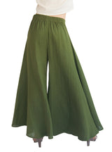 Women's Organic Cotton Palazzo Pants - Hunter Green