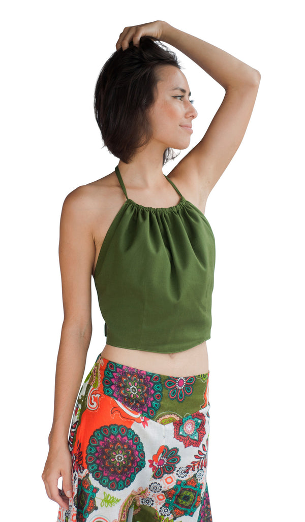 green handkerchief top