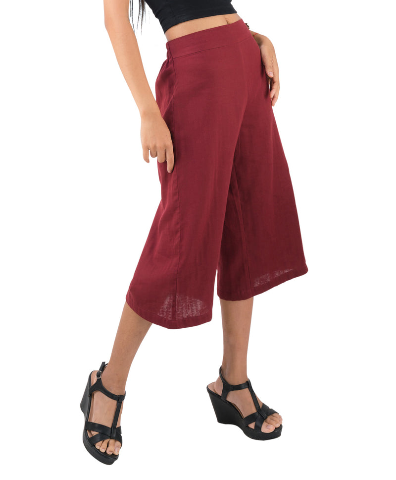 red capris for women