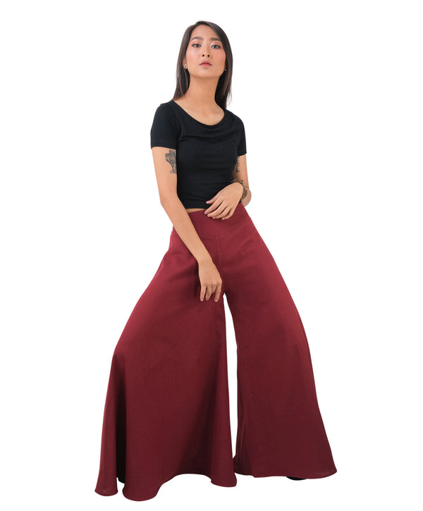 girl wearing red palazzo pants