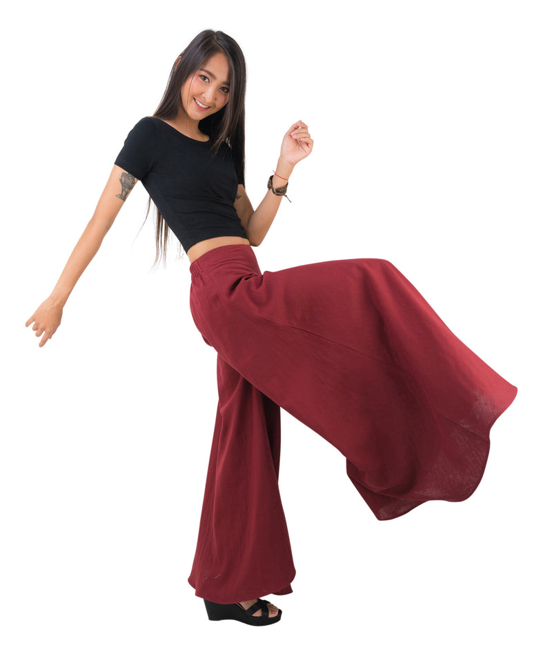 Palazzo Pants in Red, Made with Organic Cotton