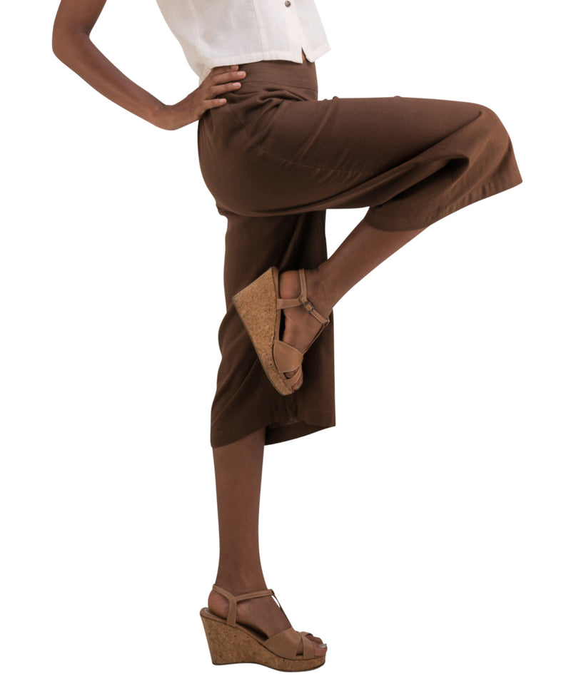 chocolate brown gaucho pants