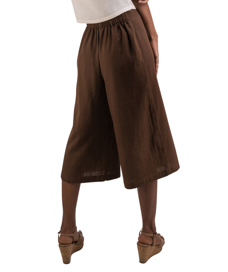Women's Organic Cotton Gaucho Pants - Brown