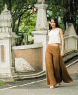 Palazzo Pants in Khaki, Made with Organic Cotton