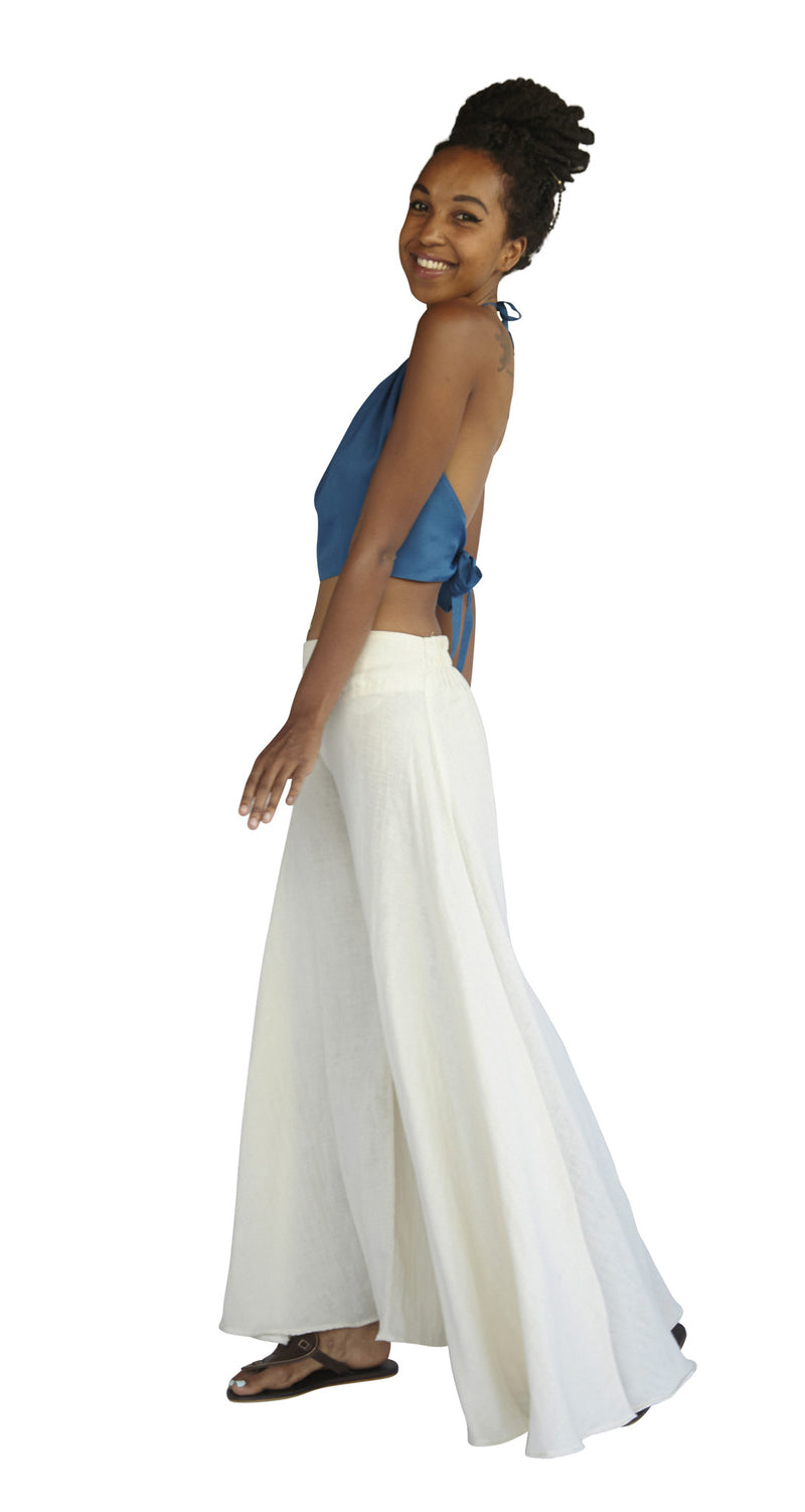 Palazzo Pants in Natural White, Made with Organic Cotton