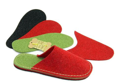 How to sew a slipper