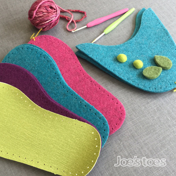 Joe's Toes Spring Flower slipper kit