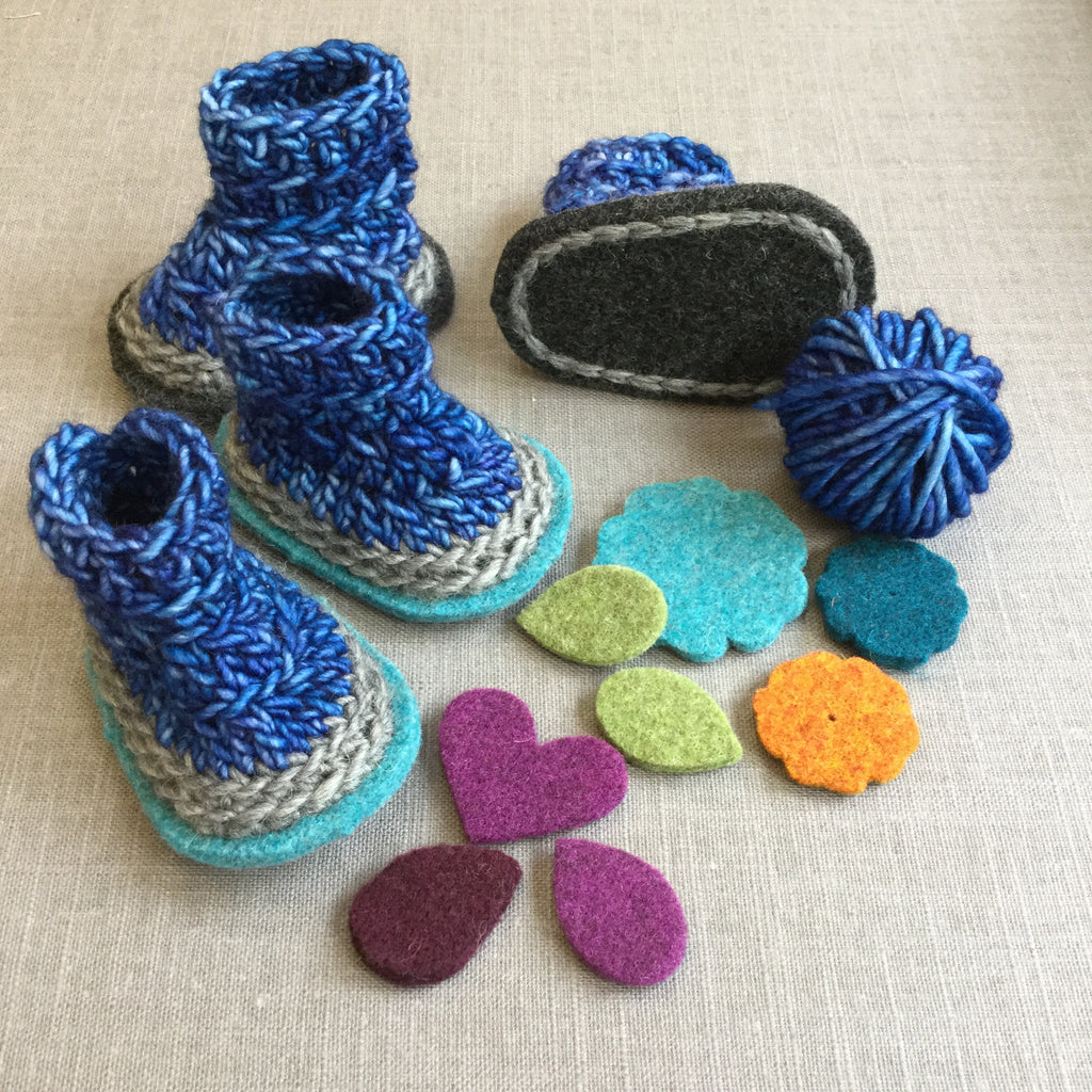 Billie Easy Crochet Baby Booties