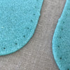 joe's toes natural crepe rubber soles color turquoise close up