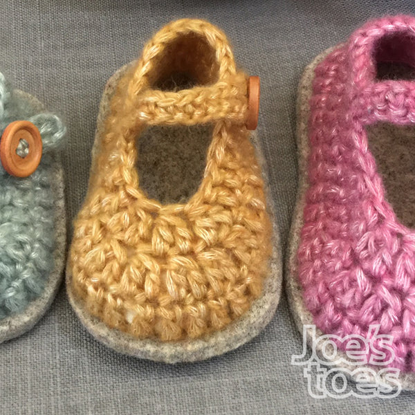 Mary Jane Crochet Baby Shoe Kit