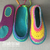 Joe's Toes Rainbow slippers sarah crochet pattern with vinyl slip resistant pads