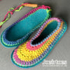 Joe's Toes Rainbow slippers sarah crochet pattern