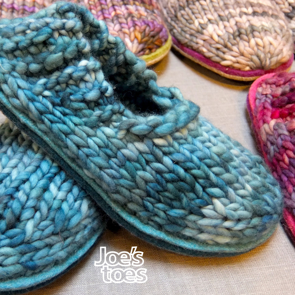 Sam DIY Knitted Slippers for Men - Using Own Yarn