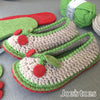 Joes' Toes Cherry crochet slipper kit in U.S. ladies' sizes 3-14