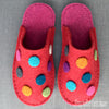 Dotty Slipper in Red Felt