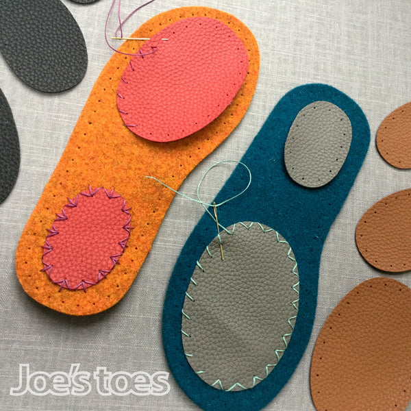 Joe's Toes Oval Patches in three sizes