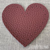 Joe's Toes bordeaux heart shaped patch with stitch holes