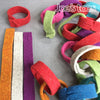 "Joe's Toes Felt ""paper"" chains laid flat and ready made"