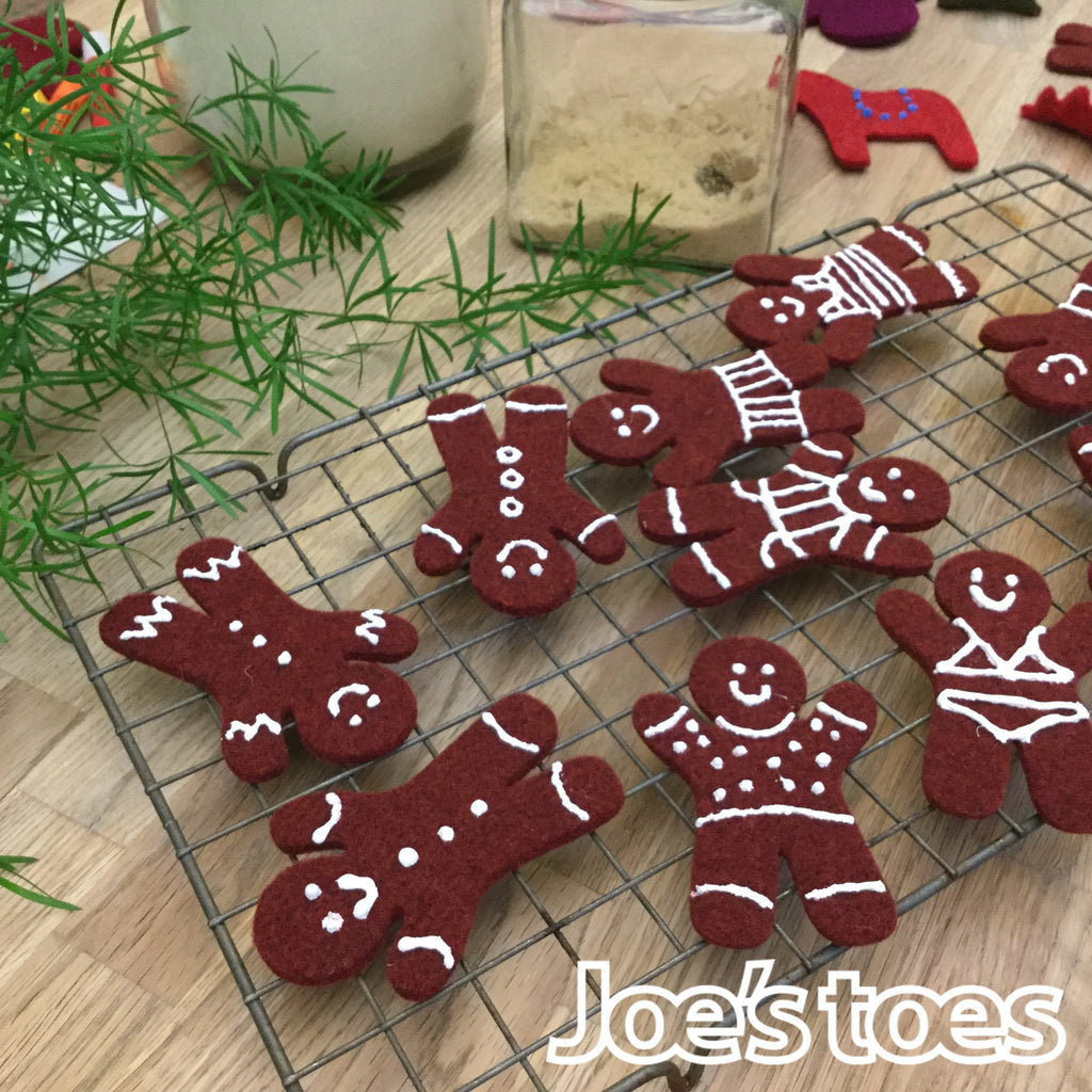 Joe's Toes Felt Gingerbread Folk