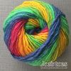 Pure Wool rainbow yarn filzwolle Max Grundl from Joe's Toes UK
