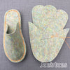 Joe's Toes vegan friendly non-wool slipper kit opal grey