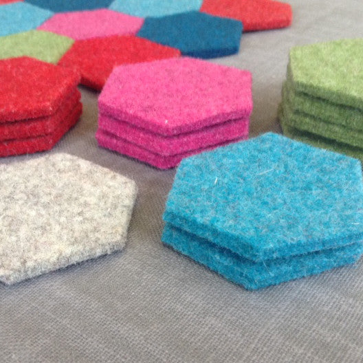 Thick Wool Felt Hexagons - Joe's Toes  - 1