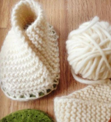 Baby Knitted Crossover Slipper Kit - Joe's Toes  - 1